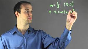 how to do point slope form when the slope is a fraction fun with math