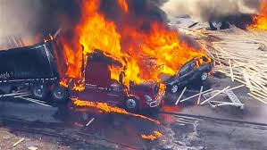 Truck driver in fiery Colorado crash charged with 40 counts, may ...