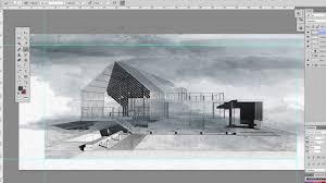 Architecture Design Photoshop Architecture Sketch Watercolor Effects Photoshop
