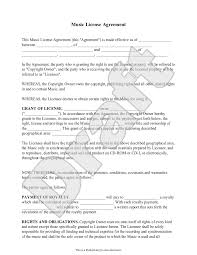 Sample License Agreement Template Sample Music License Agreement Form Template EXTORTION GANG 1