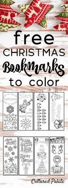 The doc versions are editable, so you can type in the book owner's. Free Christmas Bookmarks To Color Cultured Palate