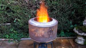 How To Make A Washing Machine Drum Fire Pit With Bbq Grill Youtube