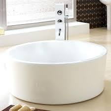 round soaking tub. Acrylic Round Soaking Tub Dimensions 3 4 Diameter X H Faucet Placement