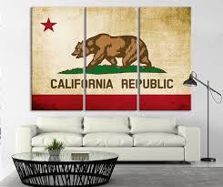 california flag wall art canvas print