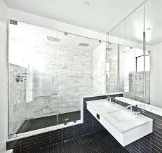 traditional white bathroom designs. View In Gallery Mirrors Lend Visual Lightness To The Small Bath Black And White Traditional Bathroom Designs L