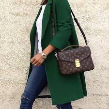 louis vuitton graceful. green-coat-with-louis-vuitton-bag- how to look stylish louis vuitton graceful