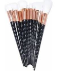 unicorn brush set. leaderpal 10pcs unicorn spiral makeup brush set - black