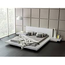 platform bed with built in nightstands. Brilliant Nightstands Matisse Fujian Platform Bed  2 Night Stands King Ash White Throughout With Built In Nightstands