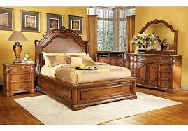 Picture Of Rosabelle King Dark Pecan 5Pc Panel Bedroom From King Bedroom  Sets Furniture
