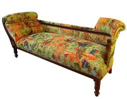 victorian chaise lounge. Antique Chaise Lounge Upholstered In Luxurious Patterned Velvet Victorian E