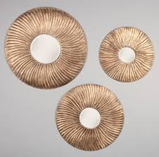 incredible immaculate extra large decorative round wall mirrors with bronze frame materials on grey painted wall