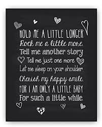 Amazon Baby Quote Nursery Art Chalkboard Typography Print Fascinating My Baby Quotes