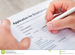 hand filling application for employment stock photo image  hand filling application for employment