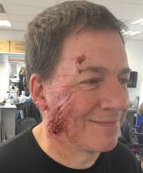 wound makeup application on prosthetics courses