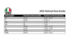 Agv Corsa R Size Chart Agv K3 Sv Proton Black Silver