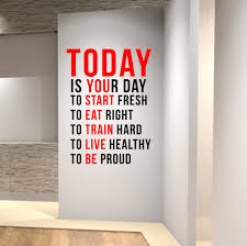 wall decal the best motivational wall decals for gym interior design slogans for business cards interior