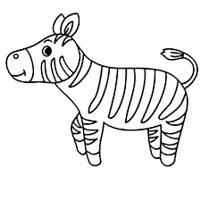 Small Picture Cute Little Zebra Coloring Page Download Print Online Coloring