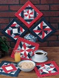 Quilted Potholders / Hot Pads / Item #1155 … | Pinteres… & Six Pinwheel Pot Holders - Quilted Pot Holder Patterns Adamdwight.com