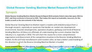 Reverse Vending Machine For Sale Unique Global Reverse Vending Machine Industry Sales Revenue Gross Margin