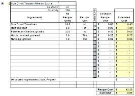 Standard Recipe Card Template Thepostcode Co