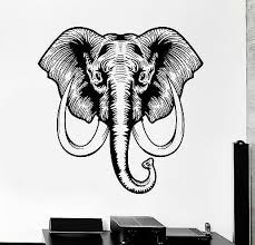 vinyl wall decal african elephant