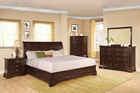 Bedroom Furniture Cheap High Free Standing Cabinet Beige Wall - Black and walnut bedroom furniture
