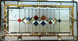 custom made traditional stained glass window panel