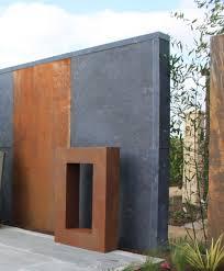 Garten Im Quadrat Sichtschutz Element Aus Stahl Moderne Rost