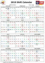 Firefighters Shift Calendar 2020 2019 Calendar New Zealand Firefighters Welfare Society