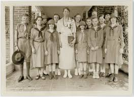 in roosevelt history eleanor roosevelt pictured girl scouts in kentucky 1934
