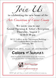 Grand Opening Invitations Grand Opening And Artists Reception Celebration Arts