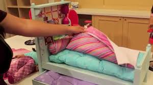 American Girl Bouquet Bed Set Review!! - YouTube