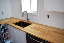 ikea hammarp butcher block countertops birch treated with mineral oil northstory