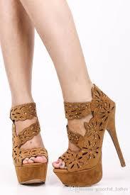 size 13 women black sandals womens shoe high heels cutout rhinestone flocking sexy