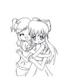 Small Picture Two Friends Hug Coloring Coloring Pages