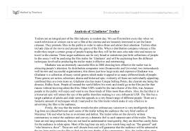 analysis of gladiator trailer university media studies  document image preview