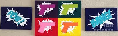 Guns Painting by Brandy Barnum