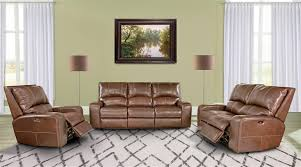 parker house swift power reclining sofa with power headrest and usb charging ports in bourbon leather