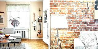 red brick wall interior design old furniture apartment in style with home designs northwest a yellow