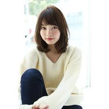 Un Ami大人かわいい小顔ひし形ミディアム Un Amiアンアミのヘア