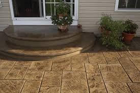 stamped concrete patio with stairs.  Patio Stamped Concrete Patio With Stairs Inside D