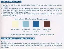 alcohol saliva test strips clia waived 100 box