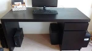 ikea malm computer desk desk and office chair excellent condition black dark brown ikea malm computer ikea malm computer desk