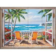 ceramic tiles art ocean. Interesting Ceramic The Tile Mural Store Tropical Terrace 24 In X 18 Ceramic Wall With Tiles Art Ocean O