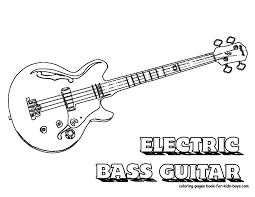 Small Picture Bass Guitar Coloring Pages Electric Bass Guitar Musical