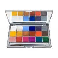 kryolan 1049 shimmering vision 18 color palette cream eyeshadow palette makeup palette translucent powder