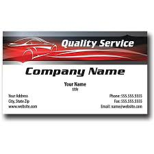 Sales Business Cards Auto Repair Business Cards With Foil Silhouette