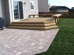 deck and patio design ideas steps small decks patios brick