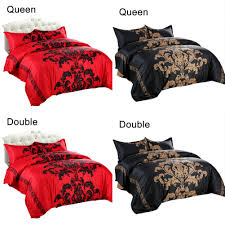 sadi red bedding set double queen size feathers duvet cover white bed set beautiful bedclothes