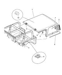 1997 jeep wrangler top enclosure diagram 00i67422